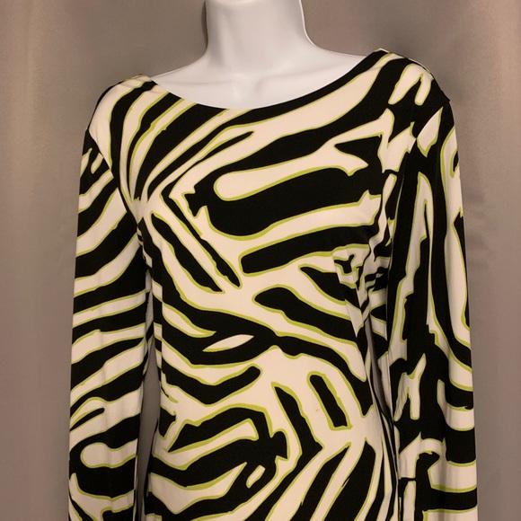 Jennifer Lopez Dresses & Skirts - Zebra Print Bodycon Dress